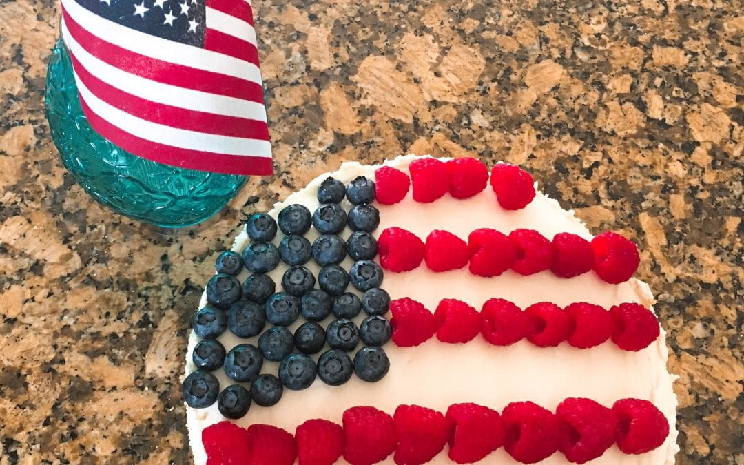 Low Carb No Bake Cheesecake for 4th of July (THM S, keto)