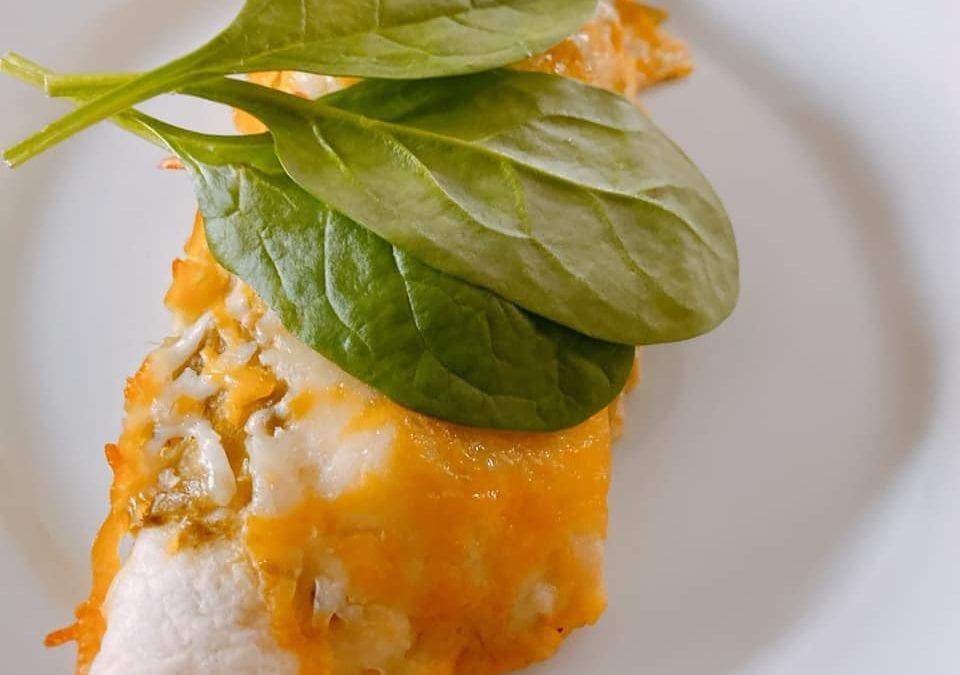 Salsa Chicken Enchiladas (THM S)