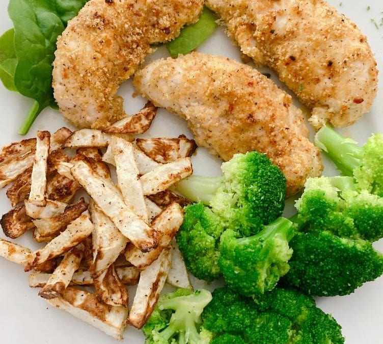 Air-Fried Crispy Chicken (THM S, Keto, low carb)